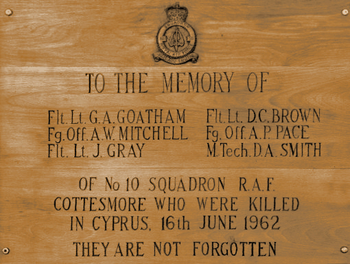 Cottesmore Church Plaque